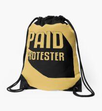 Paid Protester Drawstring Bag
