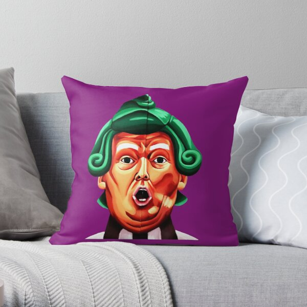 Oompa Loompa Trump Throw Pillow