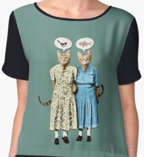 Two Cool Kitties: What's for Lunch? Chiffon Top