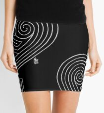 Love is a Labyrinth (Black & White Edition)  Mini Skirt