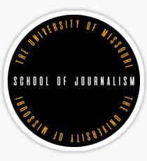 mizzou j-school circle Sticker