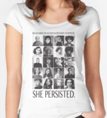 Nevertheless, She Persisted Women's Fitted Scoop T-Shirt