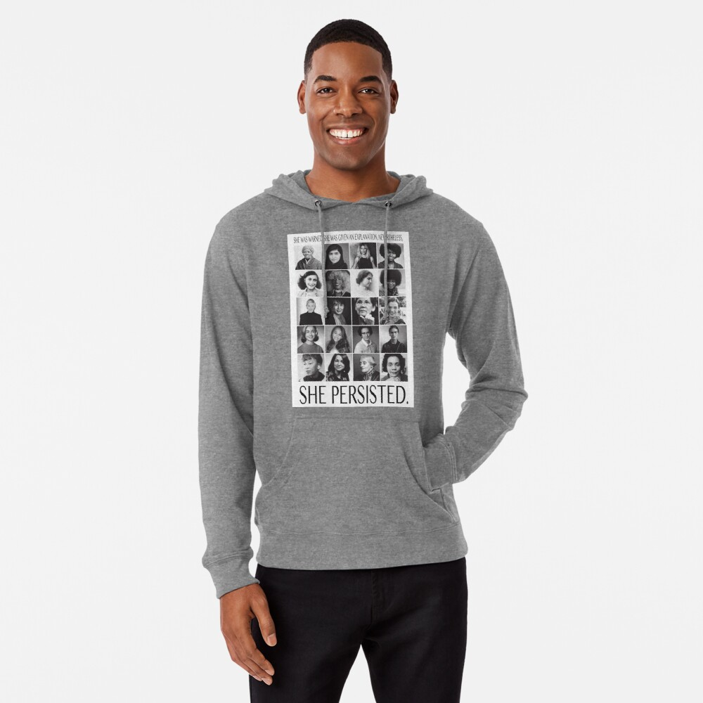 Nevertheless, She Persisted Lightweight Hoodie