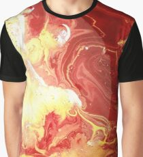 Colorful Ink Spill Graphic T-Shirt