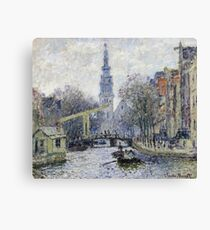Claude Monet - Canal, Amsterdam Canvas Print