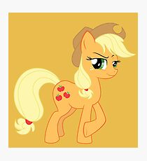 Applejack being Sly Photographic Print