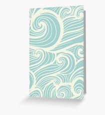 Wave Swirl Pattern  Greeting Card