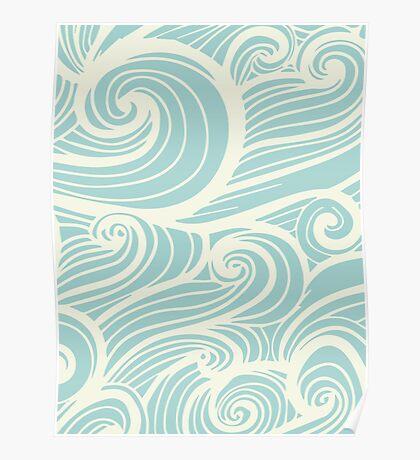Wave Swirl Pattern  Poster