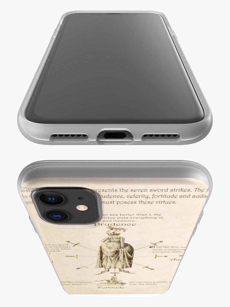 Alternate view of Fiore dei Liberi Getty Segno (English) iPhone Case & Cover