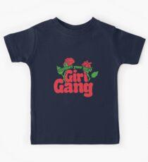 Camiseta para niños Apoye su cuadrilla local de la muchacha