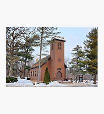 Brown Church Winter Photographic Print