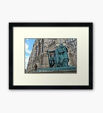 King Constantine and the Minster Framed Print