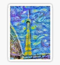 Van Gogh Tower Sticker