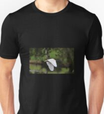 White Ibis In Flight Unisex T-Shirt