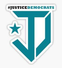 Justice Democrats Hash Tag Sticker