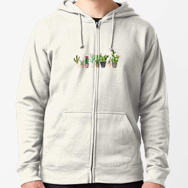 Cactus Zipped Hoodie