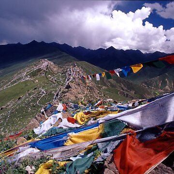 Tibetan Prayer Flags by betelnut