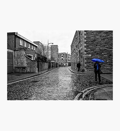 The Blue Umbrella - SC Photographic Print