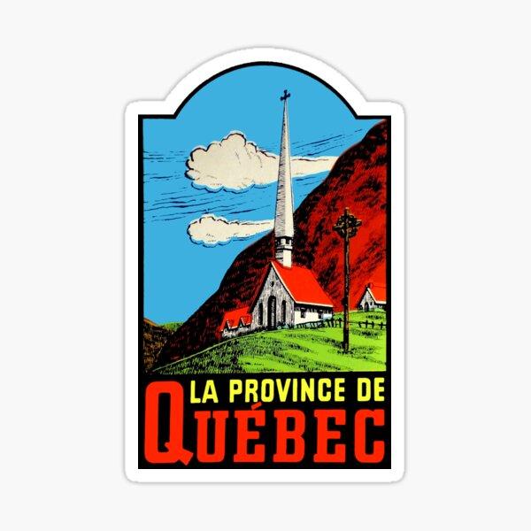 Quebec PQ Province Vintage Travel Decal Sticker