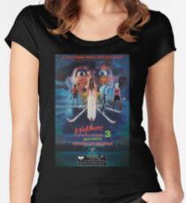 Say You Love Satan 80s Horror Podcast - A Nightmare on Elm Street 3 - Dream Warriors Women's Fitted Scoop T-Shirt