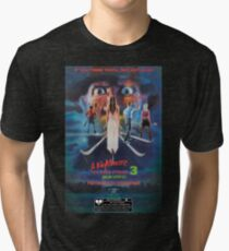 Say You Love Satan 80s Horror Podcast - A Nightmare on Elm Street 3 - Dream Warriors Tri-blend T-Shirt