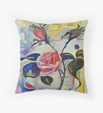 Kandinsky Rose Throw Pillow