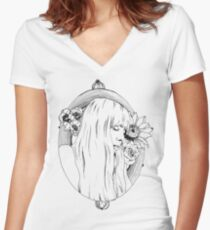 Joni Mitchell Women's Fitted V-Neck T-Shirt