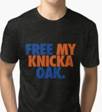 Free My Knicka Oak (Blue/Orange) Tri-blend T-Shirt