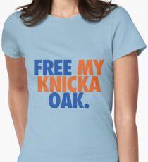 Free My Knicka Oak (Blue/Orange) Womens Fitted T-Shirt