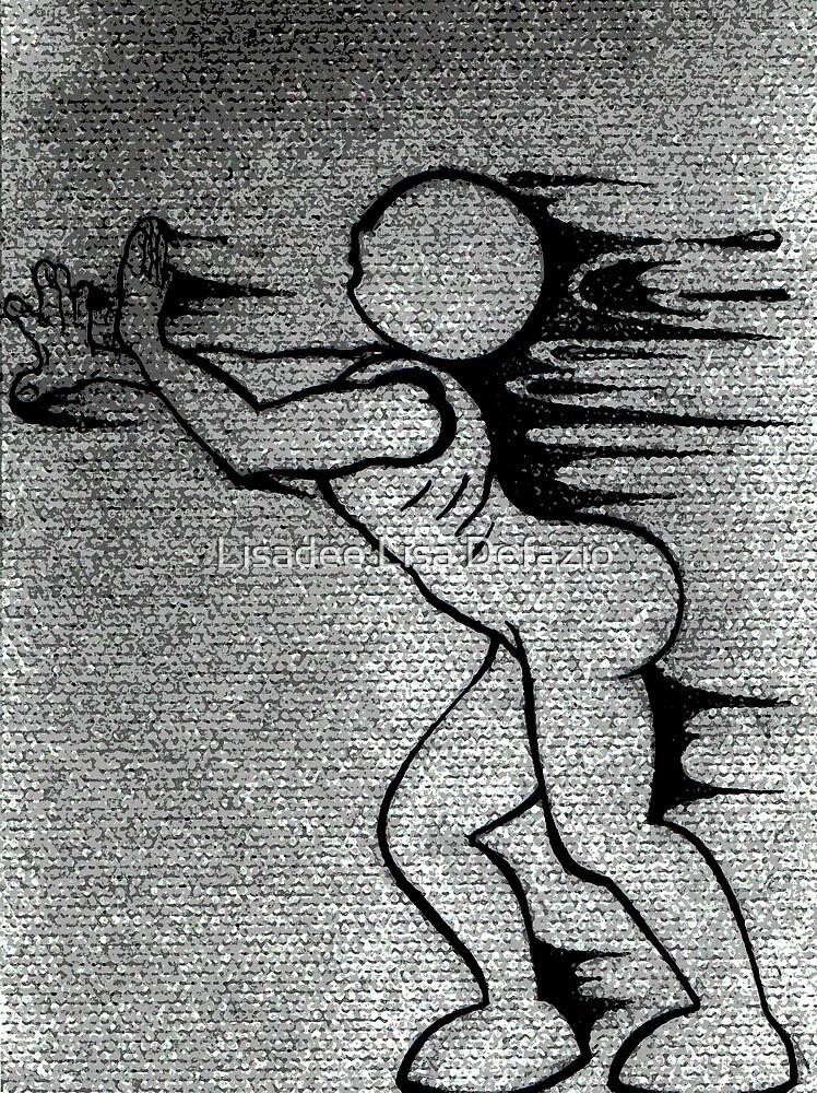 Running away from self. by Lisadee Lisa Defazio