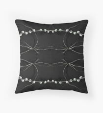pussy willow reflection Throw Pillow