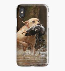 Ace retrieving a duck iPhone Case/Skin