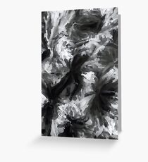 black and white abstract painting texture background Greeting Card