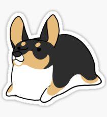 Corgi Loafs - Black and Tan Sticker