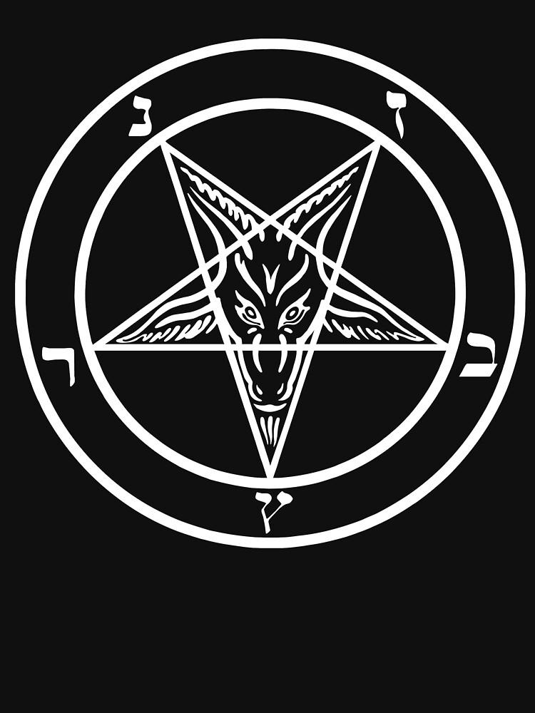 Inverted Pentagram mit Siegel von Baphomet Goat Head von JacknightW
