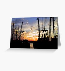 Point Judith Sunset Greeting Card