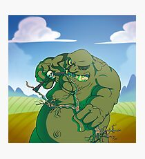 Fantasy ogre monster guarding fort Photographic Print