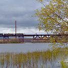 Train Bridge Ontop Of Car Bridge by wenze1