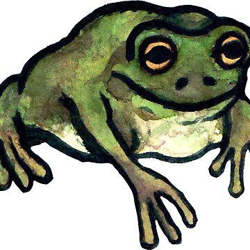 Olive Dumpy Frog by cheapkrabs
