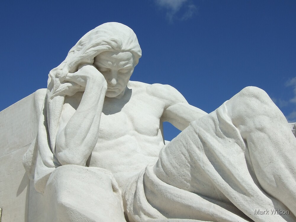Male Mourner at Vimy Ridge by Mark Wilson