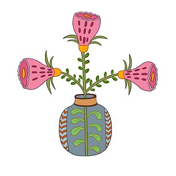 flower pot illustration 1 by sriknick