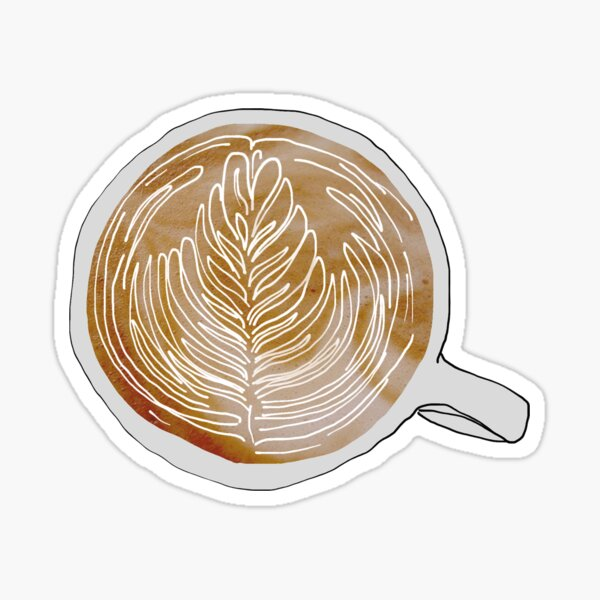 A Latte Love Sticker