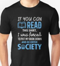 Funny If You Can Read This Book Lovers Shirt Unisex T-Shirt