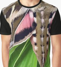 White Lined Sphinx Hyles Lineata Moth on Palm Graphic T-Shirt