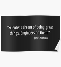 Engineers quote Poster