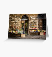 Orvieto Shopfront Greeting Card