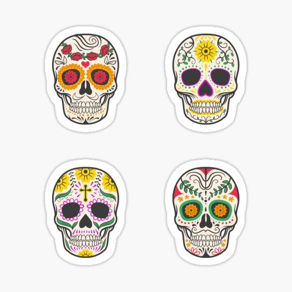 Sugar Skulls Quatro Sticker