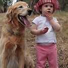 a girl & her dog by timpollock