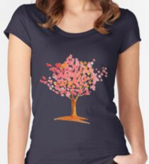 Pink tree. Women's Fitted Scoop T-Shirt