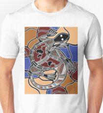 Authentic Aboriginal Art - Goanna Dreaming Unisex T-Shirt